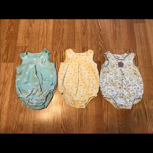 Carter's Bubble Rompers Lot of 3